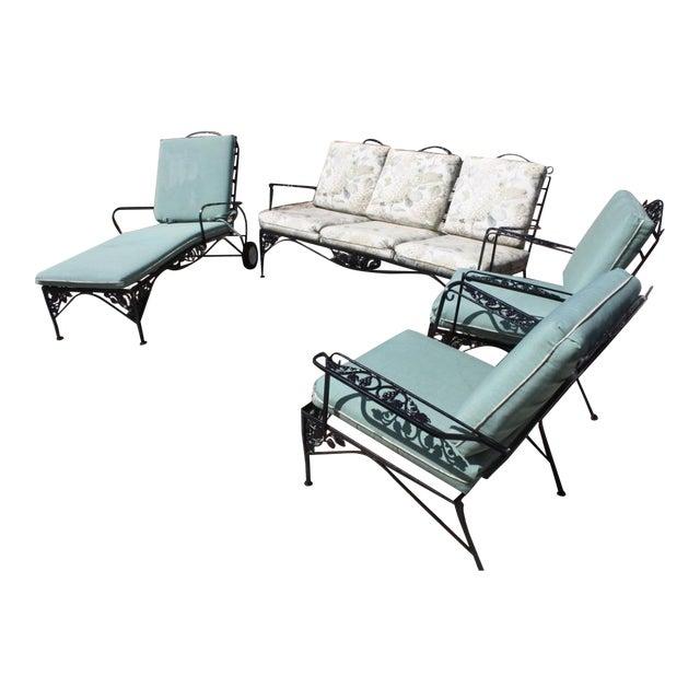 Vintage Woodard Outdoor Conversation Set - 4 - Image 1 of 11