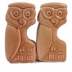 Vintage Owl Salt & Pepper Shakers - Pair