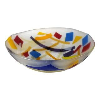 Colorful Slumped Glass Bowl