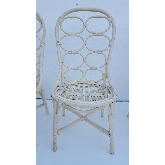 Franco Albini Inspired Rattan Dining Chairs - Set Of 6 - Image 5 of 11