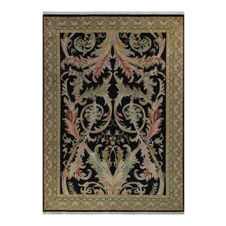 Bhati Pak-Persian Sallie Black & Green Wool Rug - 10'2 X 14'1