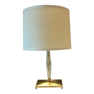 Brass & Glass Table Lamp