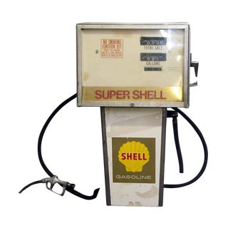 1970s Reclaimed Shell Gas Pump
