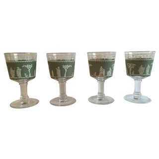 "Jeanette ""Hellenic Green"" Wine Glasses - Set of 4"