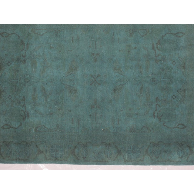 "Leon Banilivi Over-Dyed Green Wool Rug - 6' X 4'3"" - Image 4 of 5"