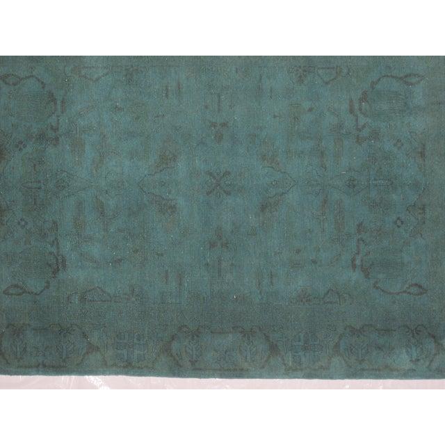 """Image of Leon Banilivi Over-Dyed Green Wool Rug - 6' X 4'3"""""""