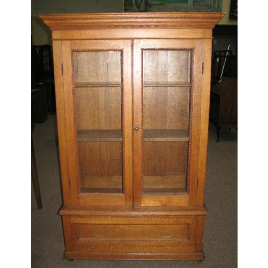 Antique American Oak Bookcase - Image 2 of 7