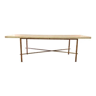 Regency Style Cultured Marble Top Coffee Table