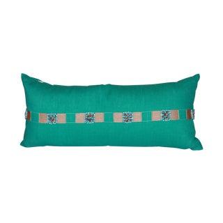 Aqua Blue Lumbar Pillow