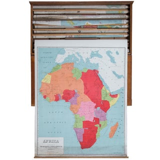 Vintage Pull Down Map of Africa