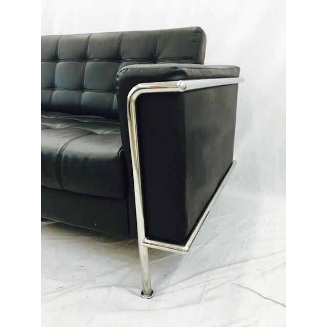 Vintage Leather & Chrome Sofa - Image 4 of 6