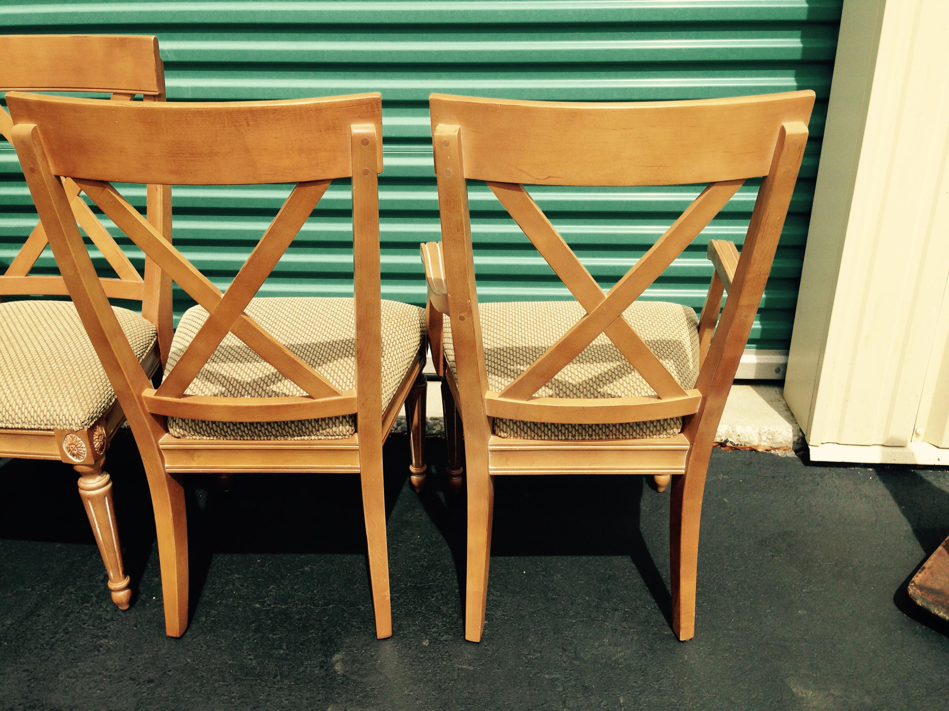 Ethan Allen Swedish Home Whitewashed Maple Dining Chairs   Set Of 6   Image  4 Of