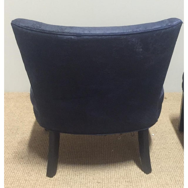 Image of Mid-Century James Mont Style Chairs - A Pair