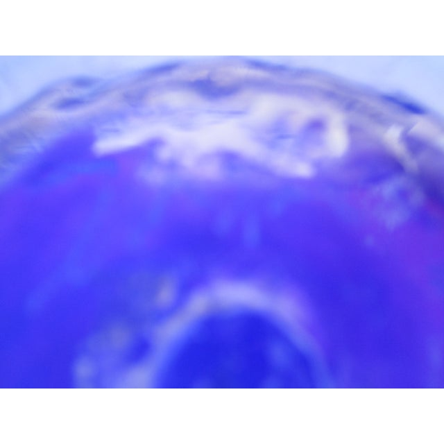 Metal Caged Iridescent Blue Glass Bowl - Image 6 of 6