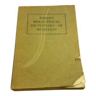 Baker's Biographical Dictionary of Musicians, Vol. 4: Levy ...
