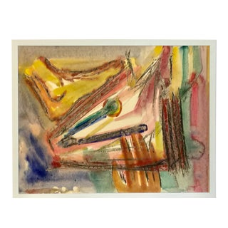 1970s Figurative Abstract Drawing