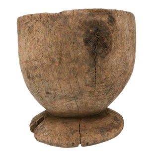 Oversized Rice Wood Mortar