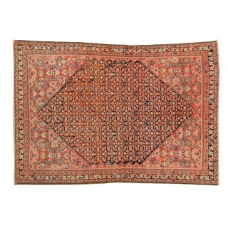 "Antique Persian Malayer Rug - 4'4"" x 6'1"""
