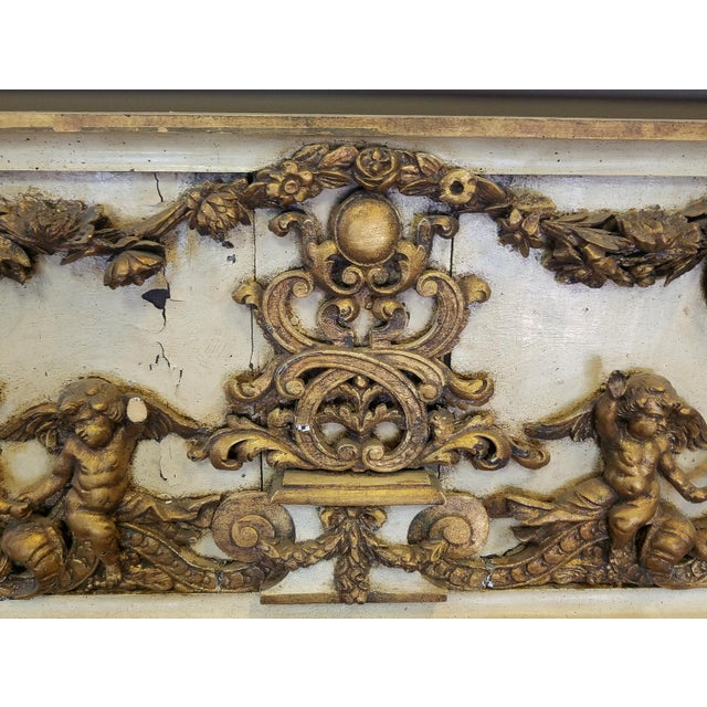 Antique Italian 19th Century Carved Wood Gilded Cherub Putti Panel - Image 5 of 11