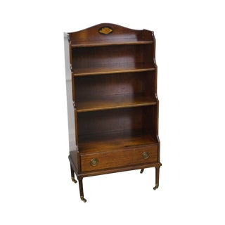 Madison Square Mahogany Inlaid Single Drawer Bookcase