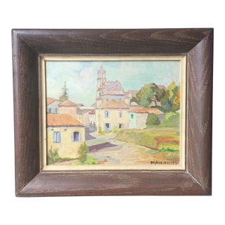 French Countryside Oil Painting