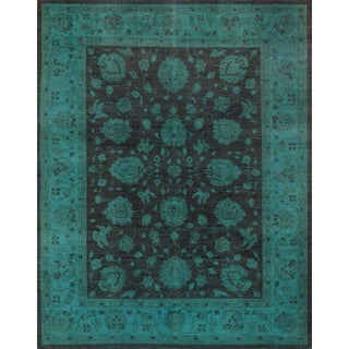 """Green Overdyed Area Rug - 8'10"""" x 11'5"""""""