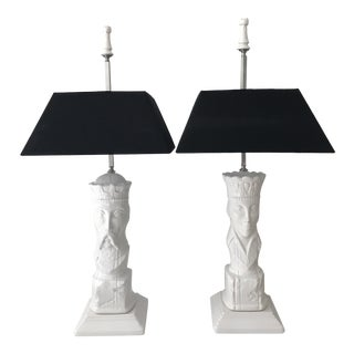 Staccato Lighting King & Queen Chess Piece Lamps - A Pair
