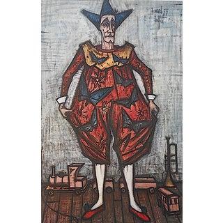 "Vintage Bernard Buffet Color Lithograph ""Le Cirque"""