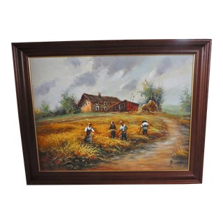 Farmhouse Harvest Original Oil on Canvas