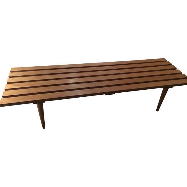Modern Wooden Slat Bench Chairish