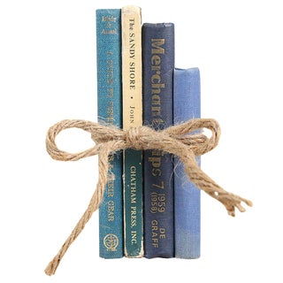 Midcentury Coastal Blue Book Gift Set, S/4