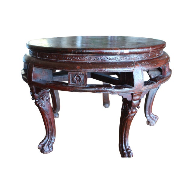 Antique Asian Claw Foot Coffee Table Chairish