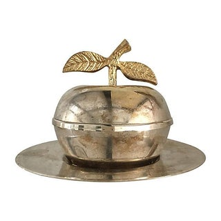 Silver Apple Shape Jelly Bowl