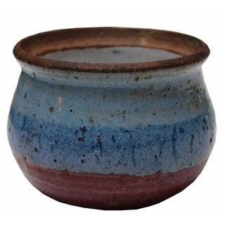 Vintage Blue Ceramic Dish