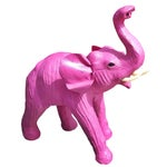 Image of Handmade Paper Mache Pink Leather Elephant