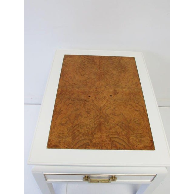 Century Burl-Wood & Lacquered Side Table - Image 4 of 6