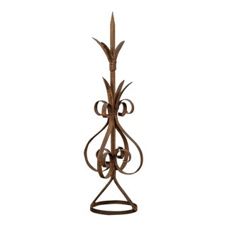 Antique Rustic French Hand-Forged Iron Finial, Normandy, circa 1880