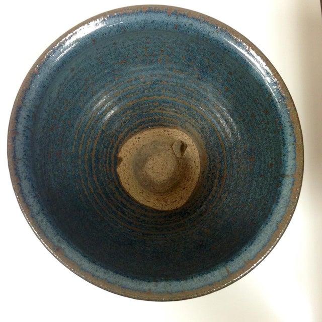 Image of Navy Blue Ceramic Vessel