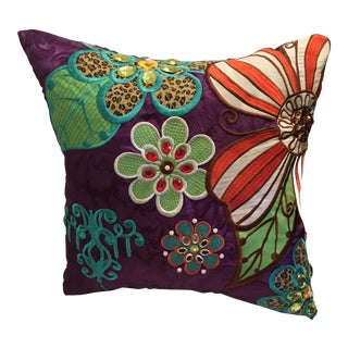 Vintage Silk Pillow From India
