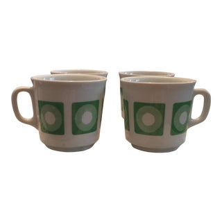 Mid-Century Italian Op Art Espresso Mugs - Set of 4