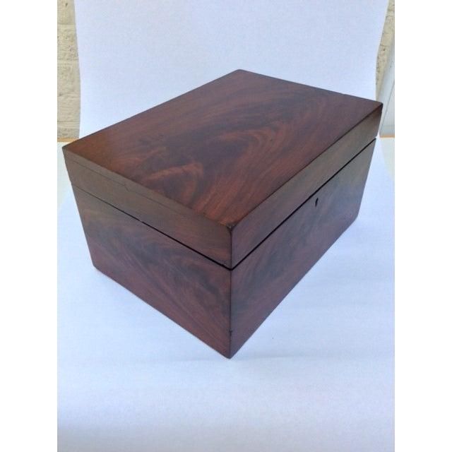 Antique Mahogany Sewing Box - Image 7 of 7