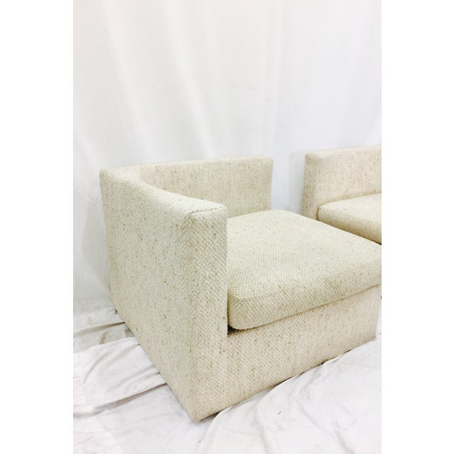 Vintage Mid-Century Modern Milo Baughman Arm Chairs - A Pair - Image 5 of 10