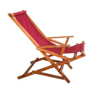 Vintage Rocking Deck Chair