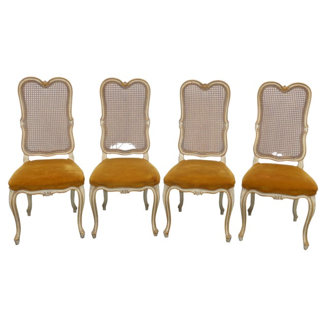 Vintage Karges Louis XV Style Cane Back Chairs - Image 1 of 11