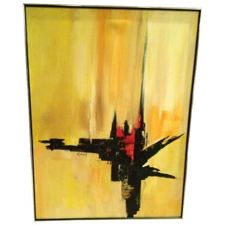 1960s Signed Kingman Abstract Painting