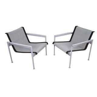 Schultz Knoll Aluminum Mesh Lounge Chairs - Pair