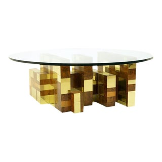Paul Evans Studio for Directional Cityscape Round Coffee Table, Rare Example