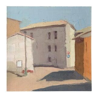 "Framed ""Tiny Italy"" Oil on Linen Painting"