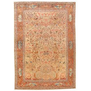 Exceptional Antique Late 19th Century Dabir Kashan Carpet