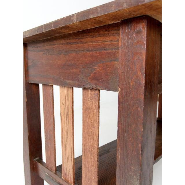 Antique Mission Style Desk - Image 7 of 8